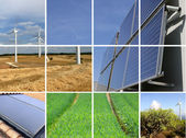 Collage of sustainable energy — Stock Photo