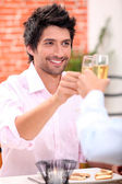 Young male dining — Stock Photo