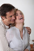 Portrait of laughing loving couple — Stock Photo