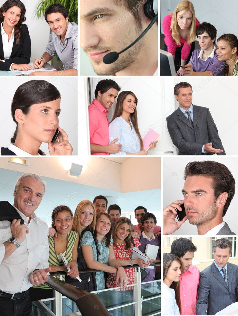 Collage showing office  workers — Stock Photo #7925146