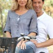 Couple on a bicycle — Stock Photo #7930495