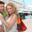 Couple shopping — Foto de Stock