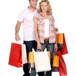 Couple crazy shopping trip — Stock Photo #7930598
