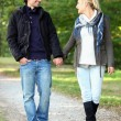 Couple taking walk in park — Foto Stock #7931421