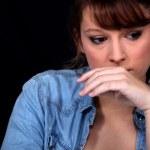 Беспокоит женщина — Стоковое фото