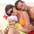 Family at the seaside — Stock Photo