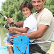 Father and son fishing — Stock Photo #7933786