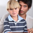Stock Photo: Portrait of father and son