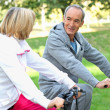 Senior couple on a bike ride — Stock Photo #7935892