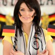 German football supporter — Stock Photo