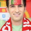 Stock Photo: Portuguese football fan