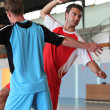 Handball players in action — Stock Photo #7939472