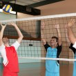 Stock Photo: Indoor volleyball match