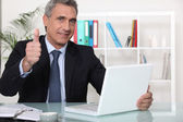 Confident sales-man — Stock Photo
