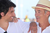 Father and son on holiday together — Stock Photo