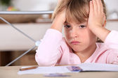 A frustrated young girl — Stock Photo