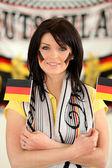 Tysk fotboll supporter — Stockfoto