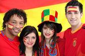 Fanáticos del fútbol español — Foto de Stock