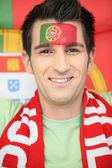 Portuguese football fan — Stock Photo