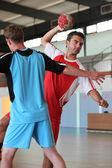 Handball players in action — Stockfoto