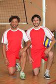 Handball players — Stock Photo