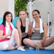 Sportswomen in fitness club — Stock Photo