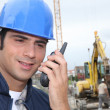 Foreman communicating via radio — Stock Photo #7941399