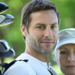 Stock Photo: Golfing couple