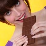 我爱巧克力 — 图库照片