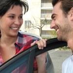 homem e mulher só sorrisos — Fotografia Stock  #7946627
