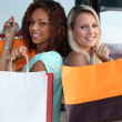 Friends shopping together — Stock Photo #7948744