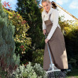 Womgardening with rake — Stock Photo #7949111