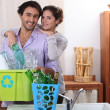 Couple sorting recycling — Stock Photo #7949287