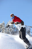Man snowboarding — Stock Photo