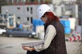 Female site surveyor — Stock Photo