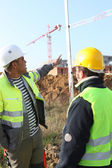 Manpower in construction site — Stock Photo