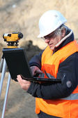 A mature engineer working onsite. — Stock Photo
