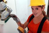 Portrait of a technician — Stock Photo