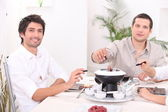 Bourguignon fondue — Stock Photo