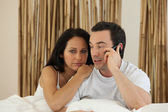 Couple receiving bad news — Stock Photo