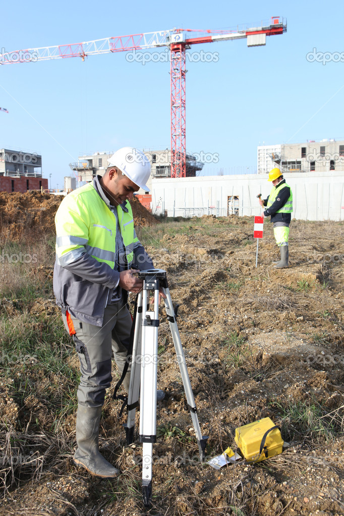Two structural surveyors  Stock Photo #7941536
