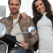 Royalty-Free Stock Photo: Couple on a motorcycle
