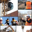 Construction themed collage — Stock Photo