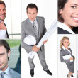 Executive themed collage - Foto Stock