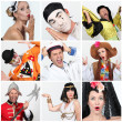 Stock Photo: Portraits of dressed-up