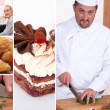 Chef in a restaurant - Stock Photo