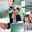 Stock Photo: A collage of business professionals at work