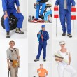 Stock Photo: Manual occupations