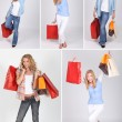 Women and shopping bags — Stock Photo #7950954