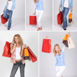 Women and shopping bags — Stock Photo